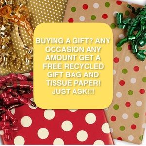 NEED A GIFT? I WILL PROVIDE GIFT BAG+TISSUE PAPER
